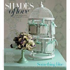 Pretty wedding birdcage - something blue Wedding Themes, Wedding Designs, Wedding Colors, Our Wedding, Wedding Decorations, Wedding Ideas, Chic Wedding, Garden Wedding, Wedding Cake