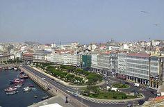 Dársena y galerias de La Marina, antes de la reforma del parque (2012) -La Coruña, Galicia