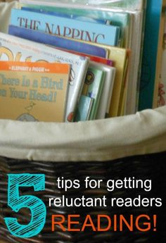 Great tips to keep kids excited about reading.