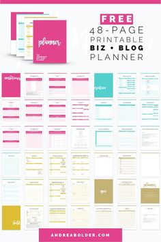 The Most EPIC Business + Blog Planner Ever - AndreaBolder.com
