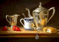 """""""Continental Breakfast"""" - Oil painting by Bill Ewing"""