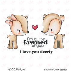 Fawned Clear Stamp Set