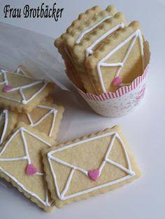 Frau Brotbäcker: Liebespost Kekse