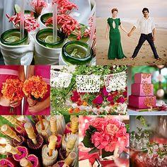 green, pink. wedding ideas from #koyal @Koyal Wholesale