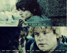 Example of the best friends in the world: Sam & Frodo <3