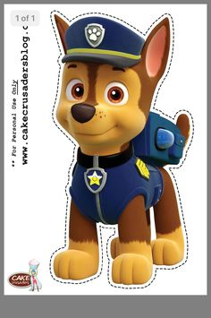 1 24 Muffin /& Cupcake Aufleger Fondant Paw Patrol C1