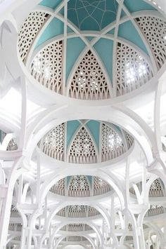 gorgeous - I love the blend of classic Islamic lines with the domes and the ornate with a modern twist of color.