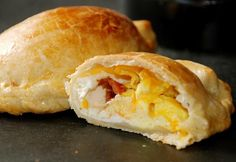 Empanadas are ideal for a breakfast on the go. These breakfast empanadas are filled with bacon, eggs, and pepper jack cheese.