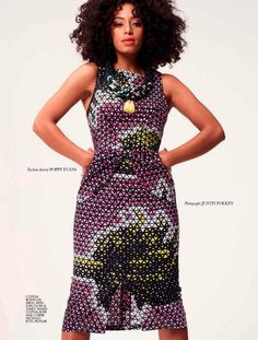 Solange Knowles by Justin Polkey for Elle South Africa November 2012.