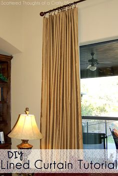 DIY Lined Curtain Tutorial - It's easier than you think! From www.scatteredthoughtsofacraftymom.com