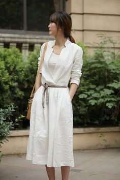 Easy To Love YouWhite half sleeve long dressmore by thesimpson,