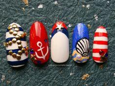 nautical nail ideas