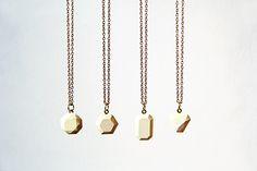 DIY Dyed Concrete Pendant Necklaces