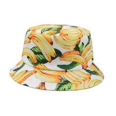 Unisex Topical Banana Fruit Bucket Hat Outdoor Sunhat Travel Beach Fishing Cap #Goldtop #Bucket Banana Fruit, Gold Top, Beach Trip, Sun Hats, Bucket Hat, Fishing, Cap, Unisex, Summer