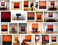 "Rothko's No. 14, 1960 is absolutely THE most photographed piece in our permanent collection. In this screen shot of a Google image search for ""SFMOMA + Rothko,"" it's interesting to see how the orange and blue hues vary from image to image."