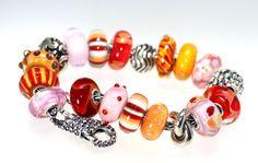 A happy Trollbeads bracelet from the NEW Happy Summer Trollbeads.  http://www.trollbeadsgallery.com/happy-summer-kit/