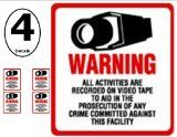 SECURITY DECAL - 4 Pack #204 Commercial Security, Surveillance Video CCTV Warning! Deterrence Decals - #204 - http://onlinedigitalcamerasreviews.com/security-decal-4-pack-204-commercial-security-surveillance-video-cctv-warning-deterrence-decals-204/