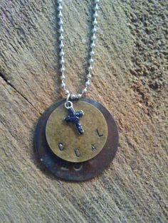 Hand made jewelry. Tool Tag Necklace from  West Virginia Coal Jewelry. Find us on Facebook - West Virginia Coal Jewelry  by Carol Dameron www.wvcoaljewelry.com