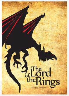 The Lord of the Rings - Vintage Poster A3 Print. $18.00, via Etsy.