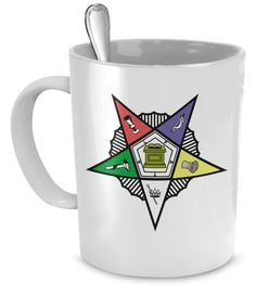 $12 Order of the Eastern star coffee cup