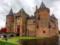 The Muiderslot Castle, the Netherlands, located at the mouth of the river Vecht, southeast of Amsterdam, in Muiden.  (by @anastasiadiane93)
