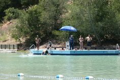 Cull Canyon has a 1.5 acre swim lagoon. It has a cement bottom with a depth of nine feet at the dock. Very safe for diving and jumping.