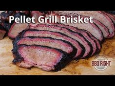 Smoked Brisket on Pellet Grill Grilled Brisket, Bbq Brisket, Smoked Beef Brisket, Grilled Steak Recipes, Grilled Ham, Smoked Pork, How To Cook Brisket, Beef Brisket Recipes, Barbecue Recipes