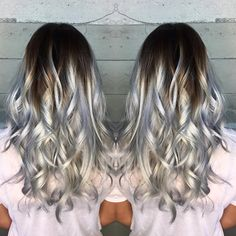 High Contrast Icy Silver Color Melt