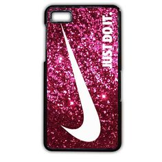 Just Do It Sparkle Glitter Pink TATUM-6021 Blackberry Phonecase Cover For Blackberry Q10, Blackberry Z10