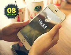8 Free TheFox iPhone 6 PSD Mock-Ups