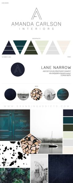Branding Addicts New Brand Board. Modern and Tranquil Design. Rustic meets relaxation with a touch of industrial design. Wood logs. Interior Designer. Succulents and Denim Texture. Added coolness with the cohesion of Emerald, Forrest Green, Grey and Mint Green. Stylish relaxation and comfort all with a pop of boldness.  Professional Business Branding by Designer Laine Napoli. Web Design, Logo, Mood Board, Brand Boards, and more. Contact for Pricing: www.brandingaddicts.com #ad