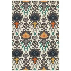 Shop for Floral Tribal Ikat Ivory/ Multi-colored Rug (7'10 x 10'10). Get free shipping at Overstock.com - Your Online Home Decor Outlet Store! Get 5% in rewards with Club O!