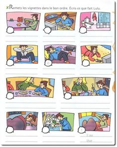Exercice sur la routine (réflexifs) - change to Spanish :) write & put in order! French Teacher, Teaching French, Teaching Spanish, French Verbs, French Grammar, French Classroom, Spanish Classroom, French Lessons, Spanish Lessons