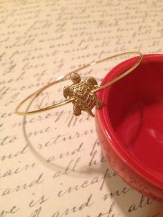Turtle bangle, turtle jewelry, turtle bracelet, nautical, sea, fertility, turtle charm, modern, minimalist, fertility jewelry