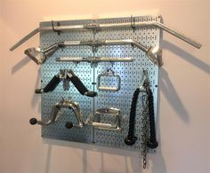 """Love this idea for storing accessories. Pic's and discussion of your """"Home Gym"""" - Page 183 - Bodybuilding.com Forums"""
