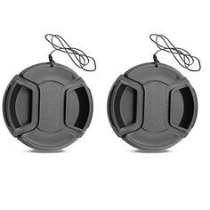 Generic Center Pinch Lens Cap For Canon Rebel 58MM T5I CANON EOS 700d 1100D DSLR Cameras 2 Pack