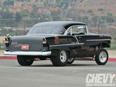 1955 Chevy Bel Air - Devil On The Asphalt - Chevy High Performance 1955 Chevy Bel Air, 1955 Chevrolet, Chevy Muscle Cars, Drag Cars, Old Trucks, Pickup Trucks, My Dream Car, Hot Cars, Custom Cars