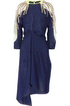 Embellished silk and crepe dress by Vionnet