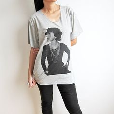 #thatshitcray #tanktop #kanyewest #jayandkanye #niggasinparis #kanye #jayz #watchthethrone #cray #ballsohard #tank #dope #swag #thatshitkray #watchthethrone2  #top #singlet #kimandkanye #thatsingletcray Coco Chanel French Fashion Designer Grey Women V by TheRockerShop, $14.99