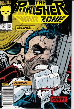 The Punisher War Zone #9 November 1992 Issue  Marvel Comics Cover