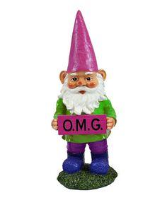 Another great find on #zulily! 'OMG' Garden Gnome #zulilyfinds