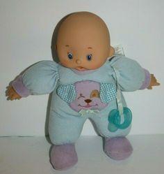 "Hong Kong City Toys Baby BOY DOLL 10"" Blue DOG Plush Soft Toy Pacifier H K Citi #HongKongCityToys #BabyDoll Blue Dog, Blue Gingham, Boy Doll, Plush Dolls, Beautiful Dolls, Baby Toys, Hong Kong, Dinosaur Stuffed Animal, City"