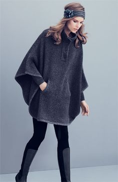 The perfect poncho to update your look for winter. Effortless and totally chic. #fashion $98