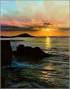 Coucher de soleil sur l'océan                              …