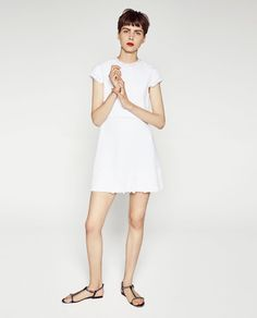 CONTRAST LACE JACQUARD DRESS-View All-DRESSES-WOMAN | ZARA United States