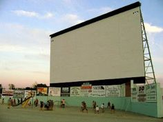 The only way we saw movies as a kid was at the drive-in.  Playing on the playground was so much fun!