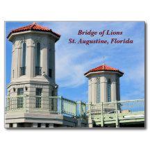 Bridge of Lions St. Augustine, Florida Postcard