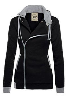 DJT Womens Oblique Zipper Slim Fit Hoodie Jacket Small Black DJT http://www.amazon.com/dp/B0176AFEX4/ref=cm_sw_r_pi_dp_wpTLwb111GR67