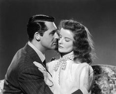 """K. Dexter Haven and Tracy Samantha Lord """"The Philadelphia Story"""" (Cary Grant & Katharine Hepburn, Katharine Hepburn, Cary Grant, Golden Age Of Hollywood, Vintage Hollywood, Classic Hollywood, Hollywood Glamour, Hollywood Stars, Hollywood Actresses, The Philadelphia Story"""