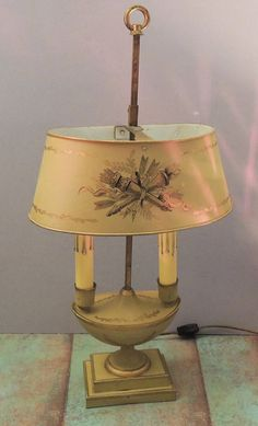 Shabby Chic Furniture: How to Paint and Distress – Shabby Chic Talk Shabby Chic Lamps, Shabby Chic Cottage, Shabby Chic Furniture, French Country Decorating, Country French, Frame Light, Burning Candle, Desk Lamp, Table Lamp